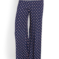 Whimsical Spotted Wide-Leg Pants