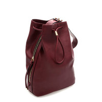 WIDE HANDLE BUCKET BAG - Handbags - WOMAN | ZARA United States
