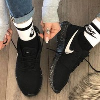 NIKE Roshe Run Star Ink Sneakers Breathable Running Shoes F/A