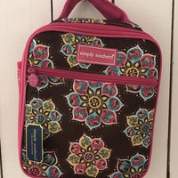 Simply Southern Lunch Tote - Brown/Pink
