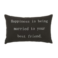 Happiness is Being Married to your Best Friend - Accent Pillow - 10-1/2 x 7-inches