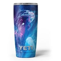 Dream Blue Cloud - Skin Decal Vinyl Wrap Kit compatible with the Yeti Rambler Cooler Tumbler Cups