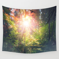Just breathe Wall Tapestry by HappyMelvin