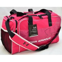 Under Armour UA Dauntless Duffel in Pink and Black at OrlandoTrend.com
