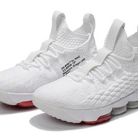 Best Deal Online Nike LeBron 15 X OFF-WHITE Red White Men Sneakers