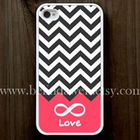 iPhone 4 Case, iphone 4s case, Forever love iphone 4 case, infinity iphone 4 case, chevron iphone 4case