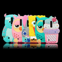 3D Silicon Sulley Cupcake Kitty Dog Owl Bunny Cartoon Soft Phone Back Case Cover for LG Magna H502F H500F C90 H520N Y90