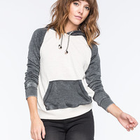 Billabong Moving On Womens Raglan Pullover Hoodie Ivory  In Sizes