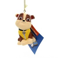 Holiday Ornaments PAW PATROL. Plastic Nickelodeon Dogs Puppies Pp1181 Rubble