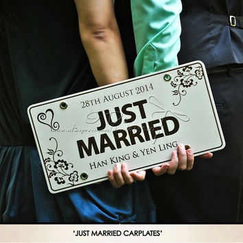 Free Shipping Personalized Car Plate Wedding Car Decoration Wedding Supplies Wedding Backdrops Event & Party Supplies