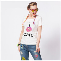 Women's Trending Popular Fashion 2016 Summer Beach Holiday Floral Printed Loose Short Sleeve T-Shirt _ 3963