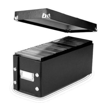 Black CD Storage Box – 2 Pack