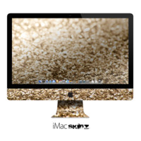 The Gold Glimmer V2 Apple iMac Desktop Computer Skin