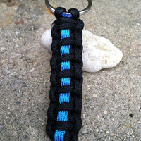 Thin Blue Line Key Ring