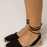 SODA Ankle Wrap Espadrille Womens Sandals