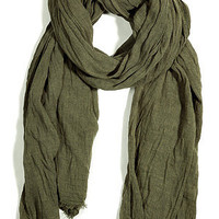 STYLEBOP.com   MilitaryOliveFringedScarfbyCLOSED   the latest trends from the fashion capitals of the world