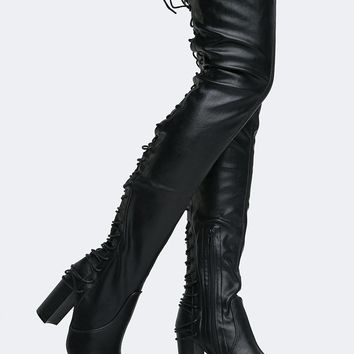 Koko Lace Up Over the Knee Boot
