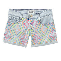 Jessica Simpson 7-16 Forever Baby Roll-Cuff Shorts