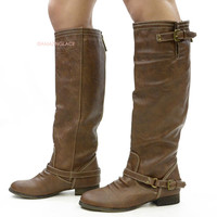 Montana Skye Tan Strap Riding Boots