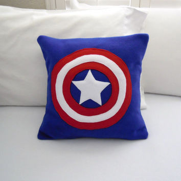 Captain America Fleece Pillow, Marvel Avengers
