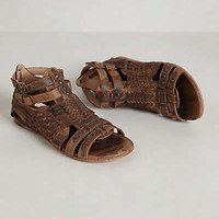 Anthropologie - Claire Teak Gladiators