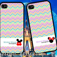 Minnie Mickey Mouse Couple iPhone Case , iPhone 5 Case , iPhone 4 Case , iphone 4s case , Plastic hard case , love,Valentine,Cartoon