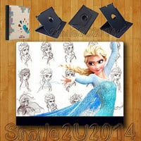iPad Air case,Elsa,Frozen,iPad Air Leather Case,can stand up and rotate freely,iPad Air leather Cover,custom image accept,full protection