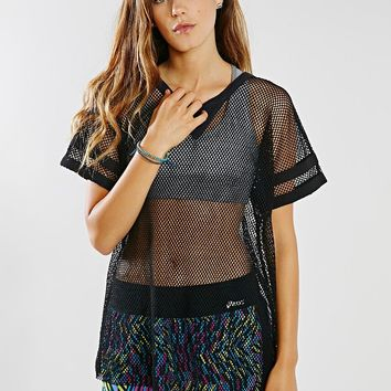 First Base Open Mesh Tee - Urban Outfitters
