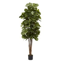 Nearly Natural, 6 ft. Fiddle Leaf Fig Tree, 5346 at The Home Depot - Tablet