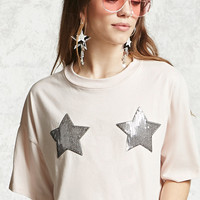 Sequined Star Top