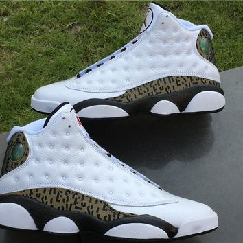 2017 Air Jordan Retro 13 Love And Respect White Black Gold Real Carbon Fiber Authentic Leather Original Quality With Box Limited Release