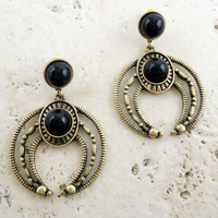 Boho Vintage Inspired Horn Earrings