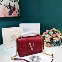 Fashion Versace Women Leather monnogam Handbag Crossbody bags Shouldbag Bumbag
