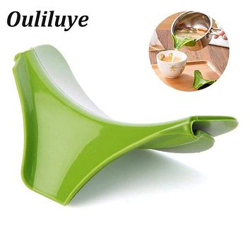 Multifunction Anti Spill Silicone Funnel
