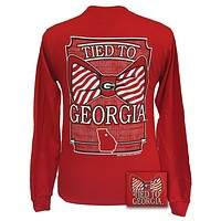 SALE Georgia Bulldogs Tied To Georgia Big Prep Bow Long Sleeve T Shirt