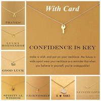 18K Gold Shorts Clavicle Chains Fashion Necklace