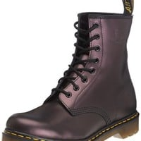 Dr Doc Martens 1460 W Womens Ladies Classic Boots Purple Shimmer 11821510