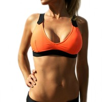 Havana Bralette Bikini Top - Orange
