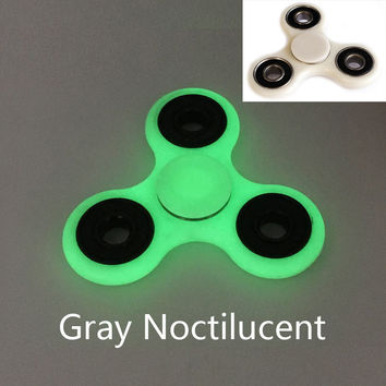 10 Color Gray Noctilucent Tri-Spinner Fidget anti Stress Toy