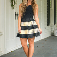 Sass And Structure Dress, Black-Gold
