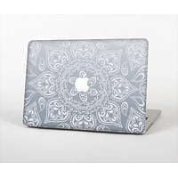 The Intricate White and Gray Vector Pattern Skin Set for the Apple MacBook Pro 13""