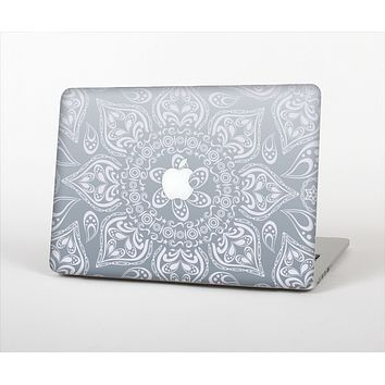 """The Intricate White and Gray Vector Pattern Skin Set for the Apple MacBook Pro 13"""""""