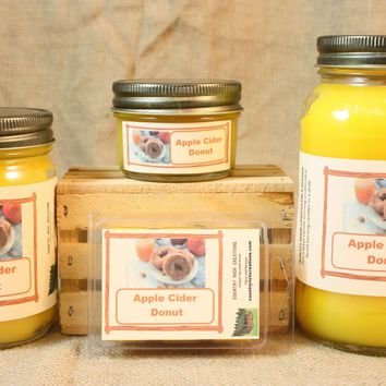 Apple Cider Donut Scent Candles and Wax Melts, Bakery Scent Candle Wax, Highly Scented Candles and Wax Tarts, Great Fall Scent Candles