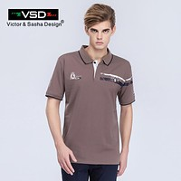 Summer Casual Polo Shirt For Men's Solid Turn Down Collar Short Sleeved Fashion Slim Fit Clothing Business Male
