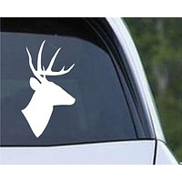 Deer Head Hunting Silhouette HNT1-41 Die Cut Vinyl Decal Sticker