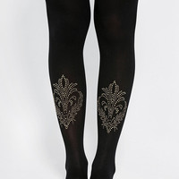 Urban Outfitters - Pretty Polly Ornate Opaque Tight
