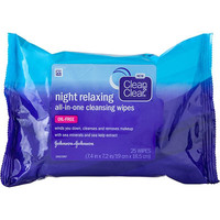 Night Relaxing All-In-One Cleansing Wipes 25 Ct