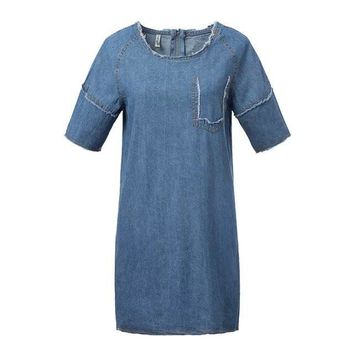 Summer Denim Dress [6514138823]