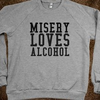 Misery loves alcohol - fiffypie