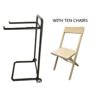 Symple Stuff 11 Piece Large Flat Side Chair Set with Trolley